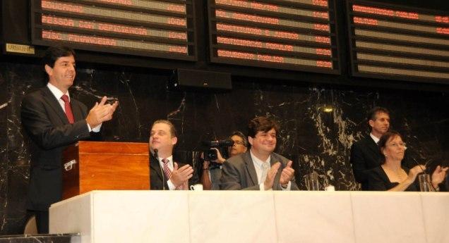Assembleia Legislativa realizou reunião especial para eleição da Mesa Diretora para o biênio 2013-2014. Foto Guilherme Bergamini/ALMG