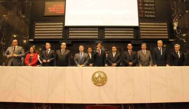 Reunião Solene da ALMG para Instalação da 3ª Sessão Legislativa da 17ª Legislatura. Foto   Guilherme Bergamini