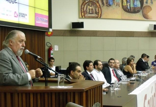 O lançamento de BH Assina+Saúde foi na Câmara Municipal da capital mineira. Foto Janaína Massote