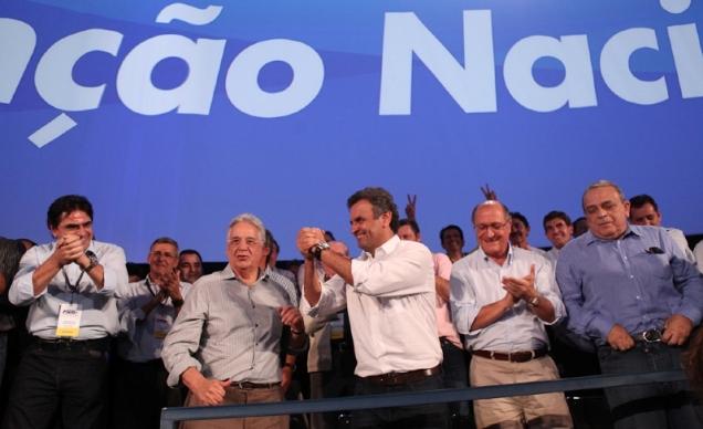 Aécio Neves foi eleito presidente nacional do PSDB no dia 18 de maio, em Brasília. Foto George Gianni