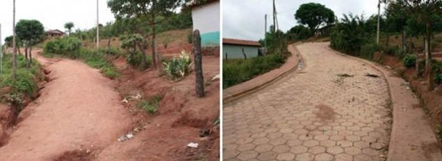 Obras de pavimentação de rua em Setubinha, município contemplado pelo programa Travessia