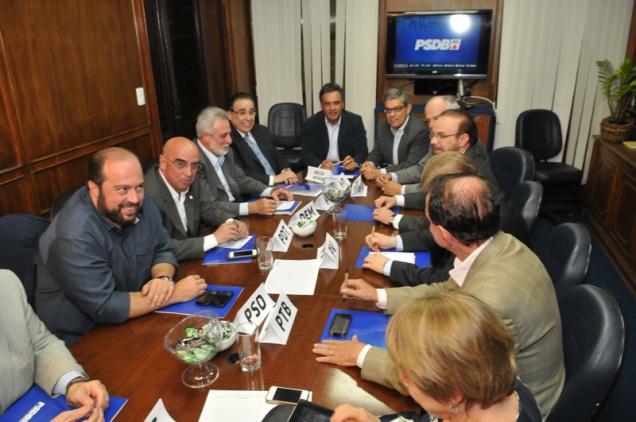 A reunião foi realizada na sede do PSDB-MG, em Belo Horizonte. Foto Alessandro Carvalho