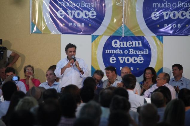 Presidente do PSDB, senador Aécio Neves,  participou de encontro político em Franca (SP) nesta sexta-feira. Foto George Gianni