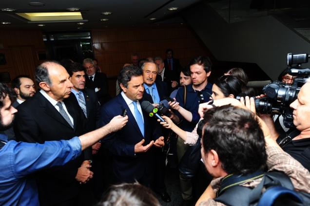 Para Aécio Neves, o grande desafio a ser superado hoje pelo Brasil é voltar a fazer com que o Estado seja eficiente. Foto George Gianni