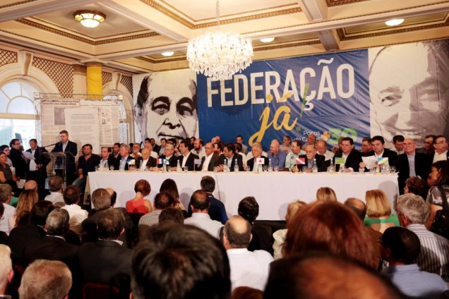 Governador Antonio Anastasia discursa durante evento Federação Já, Poços de Caldas +30. Foto Orlando Brito/PSDB