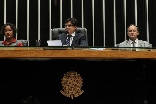 Deputado Eduardo Barbosa (PSDB-MG) presidindo sessão solene na Câmara. Foto Alexssandro Loyola