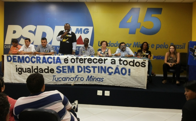 """Na reunião, foi lançada a caravana """"Moreno não, sou negro"""" que percorrerá 19 cidades mineiras"""