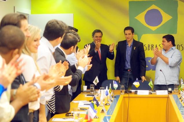 Representantes da Juventude Tucana dos 26 estados e do Distrito Federal participaram da reunião com Aécio Neves. Foto George Gianni