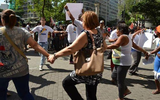 Manifestação feita em abril pela Juventude Tucana, também na Praça Sete, em Belo Horizonte