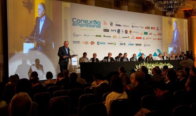 Pimenta da Veiga durante encontro empresarial em Araxá. Foto Leo Lara