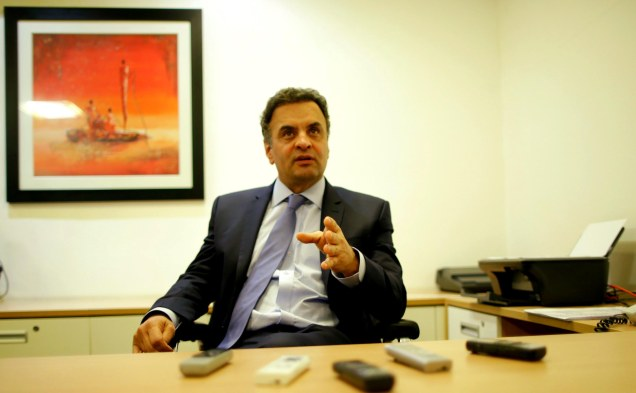 Aécio voltou a defender a liberdade de imprensa como fundamento principal da democracia. Foto Igo Estrela/PSDB