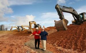 Chávez e Lula durante visita às obras da refinaria Abreu Lima, em 2008. Foto Ricardo Stuckert/PR