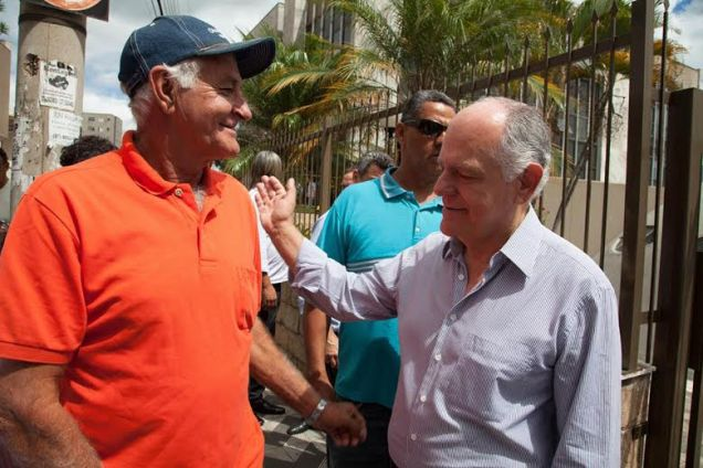 Pimenta da Veiga já visitou mais de 100 municípios de todas as regiões do Estado. Foto Leo Lara