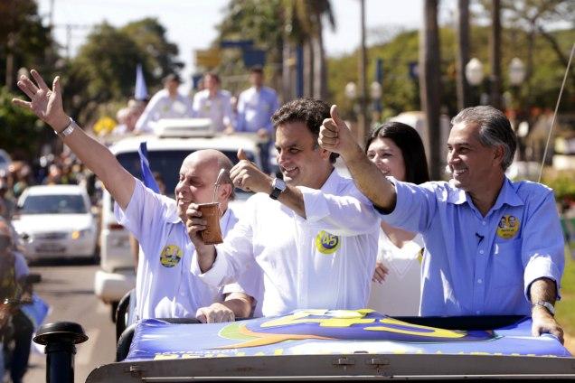 Aécio Neves, participou de ato politico em Dourados (MS). Foto Igo Estrela