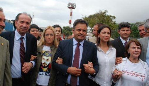 Comitiva dos senadores brasileiros na Venezuela