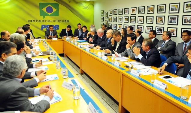 Reunião do senador Aécio Neves com os 27 presidentes dos diretórios regionais do PSDB