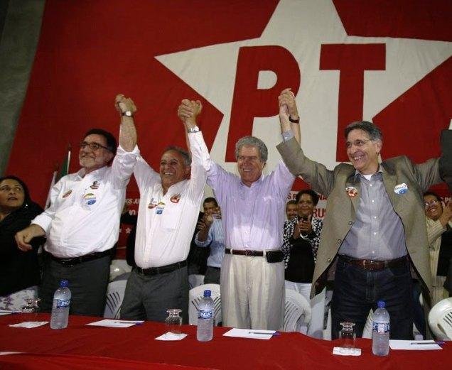 Evento de campanha de Hélio Costa/Patrus Ananias em 2010