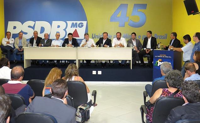 FOTO 2 - Coletiva de Imprensa - Novas filiações ao PSDB-MG (28-09-2015)