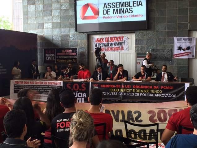 Governo Fernando Pimentel trata aprovados em concurso da PC com descaso e não envia representantes para audiência pública