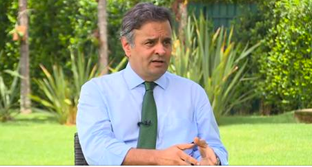 A entrevista do senador Aécio Neves ao jornalista Roberto D'Avila foi ao ar na noite desta quarta-feira