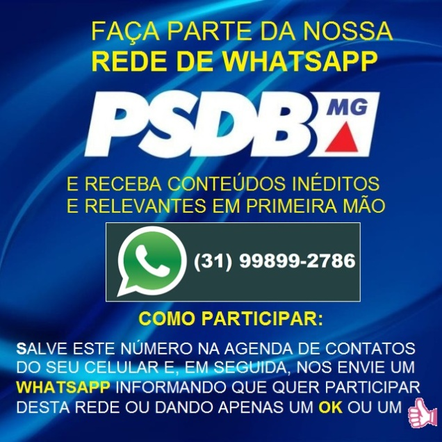 BANNER - REDE DE WHATSAPP DO PSDB-MG