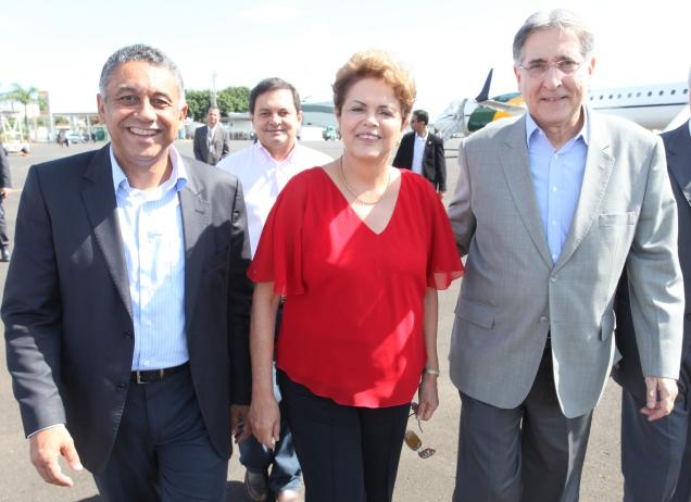 Gilmar Machado, Dilma e Pimentel (1)